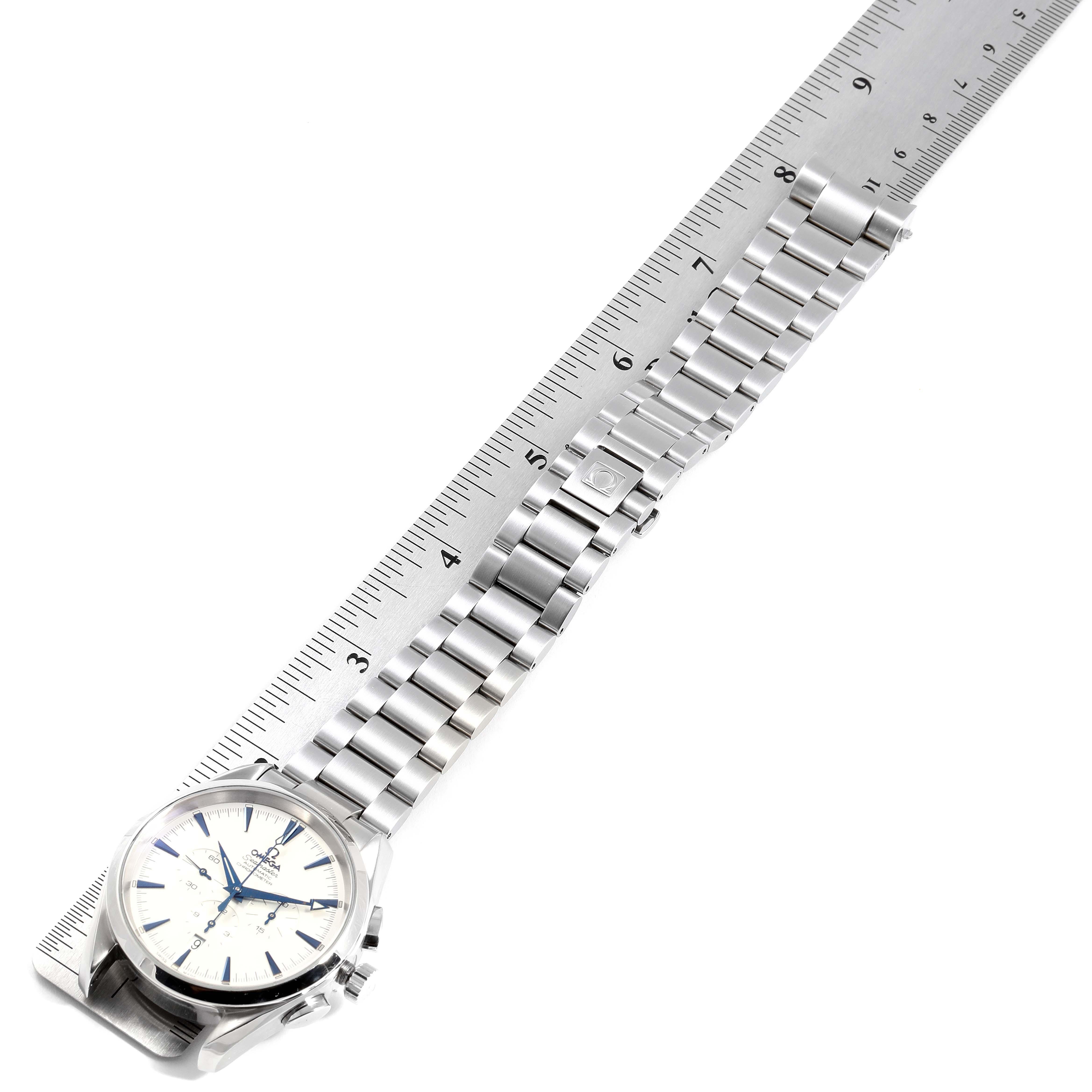 Omega Seamaster Aqua Terra XL Chronograph Watch 2512.30.00 Card SwissWatchExpo