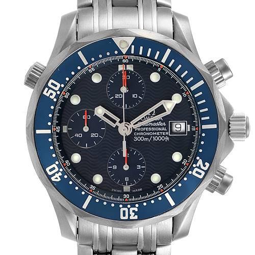 Photo of Omega Seamaster Chrono Diver Blue Dial Titanium Mens Watch 2298.80.00