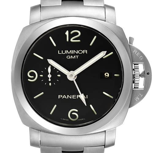 Photo of Panerai Luminor 1950 3 Days GMT 44mm Watch PAM00329 Box Papers