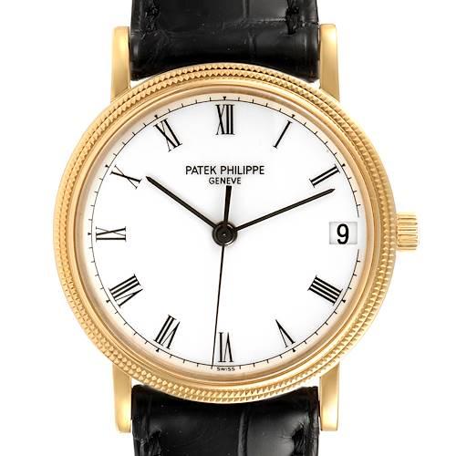 Photo of Patek Philippe Calatrava Yellow Gold Automatic Mens Watch 3802 Box Papers