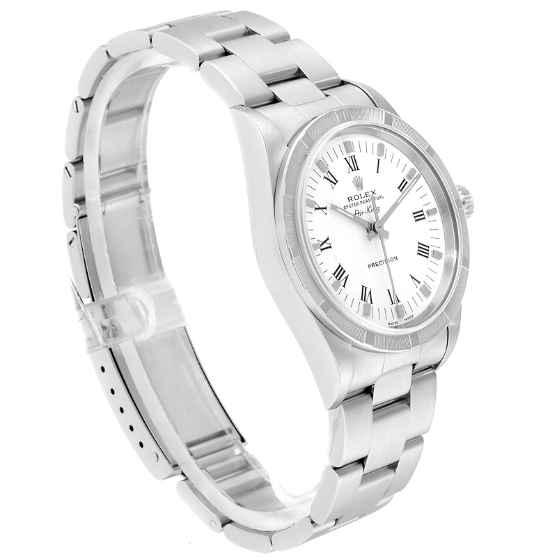 Rolex Air King 34mm White Dial Steel Mens Watch 14010 Box SwissWatchExpo