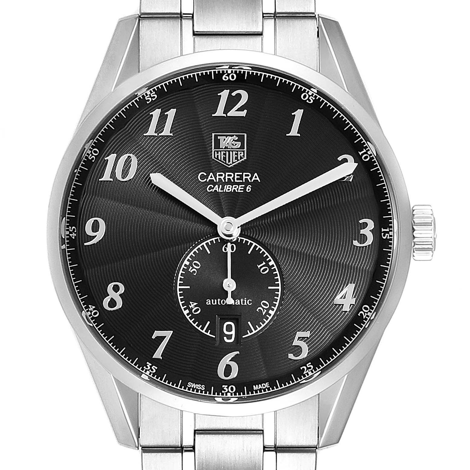 Photo of Tag Heuer Heritage Calibre 6 Black Dial Mens Watch WAS2110