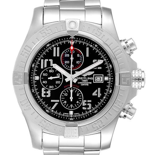 Photo of Breitling Aeromarine Super Avenger Steel Mens Watch A13371 Box Papers