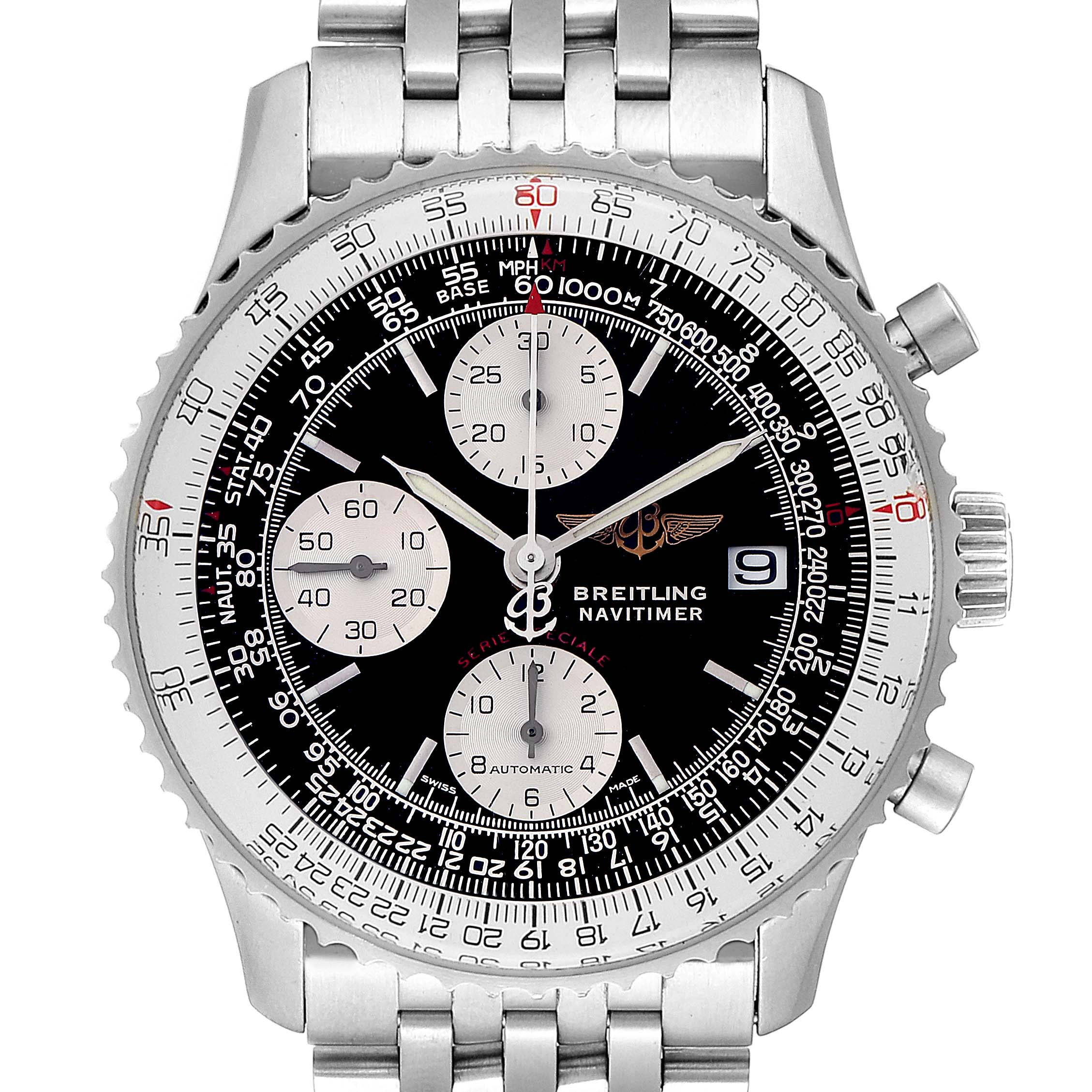 Breitling Navitimer Fighter Chronograph Steel Mens Watch A13330