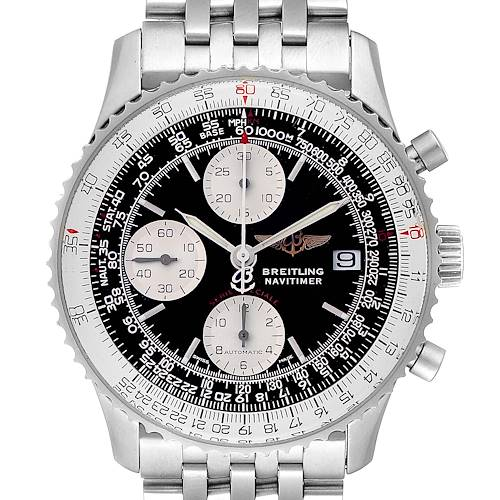 Photo of Breitling Navitimer Fighter Chronograph Steel Mens Watch A13330 Box