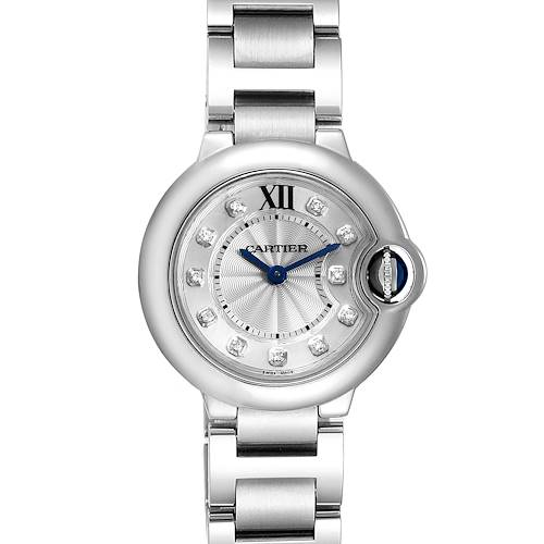 Photo of Cartier Ballon Bleu Silver Diamond Dial Steel Ladies Watch WE902073