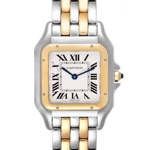 Photo of Cartier Panthere Ladies Steel Yellow Gold 2 Row Ladies Watch W2PN0007