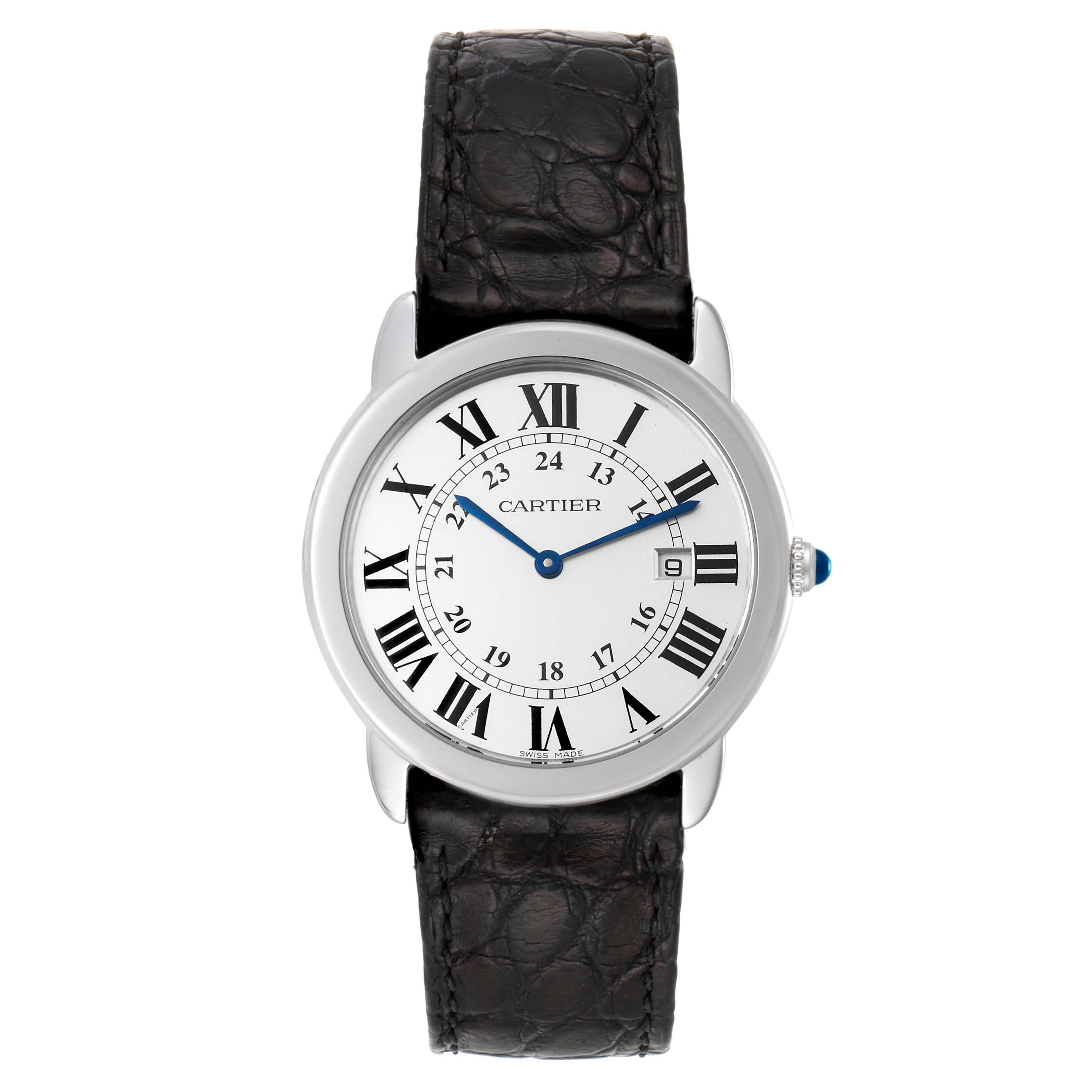 Cartier Ronde Solo Large Steel Unisex Watch W6700255 Box SwissWatchExpo