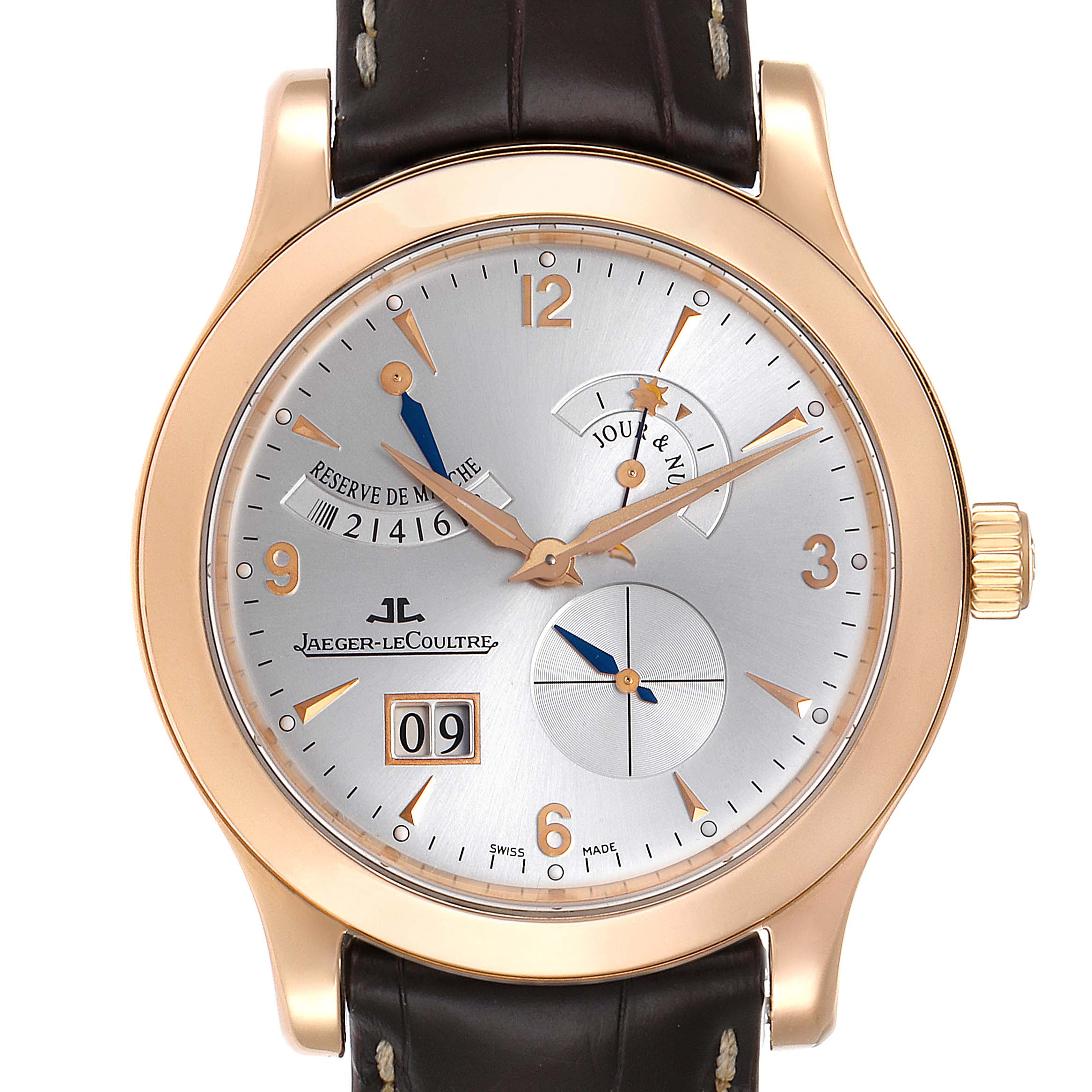 Jaeger Lecoultre Master Eight Days Rose Gold Watch 146.2.17.S Q1602420