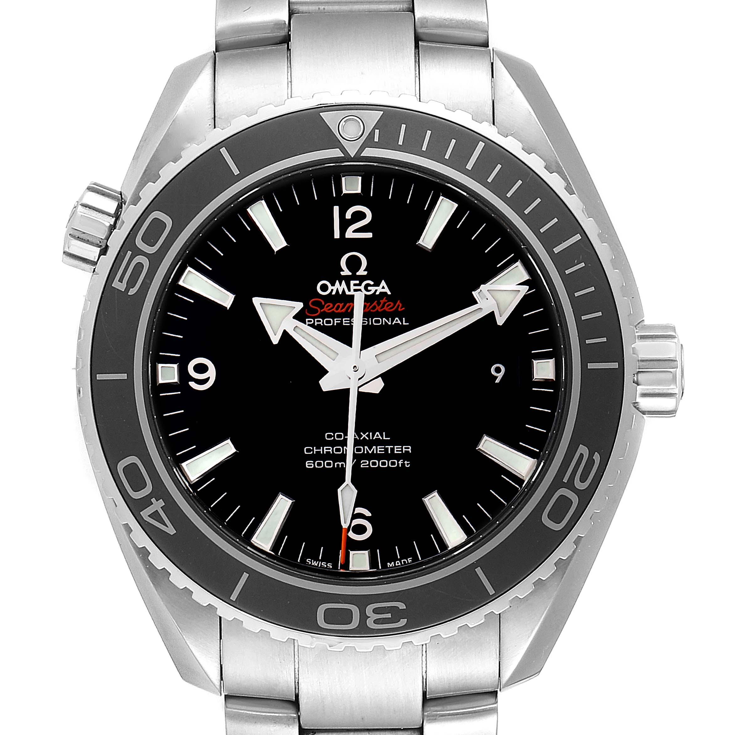 Omega Seamaster Planet Ocean 600M Mens Watch 232.30.46.21.01.001 Card