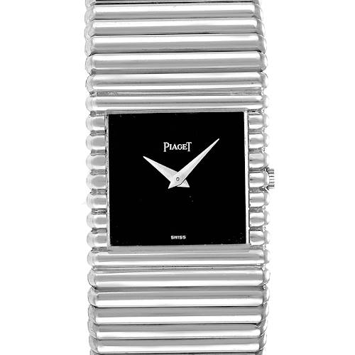 Photo of Piaget Polo 18K White Gold Black Dial Mens Watch 9131