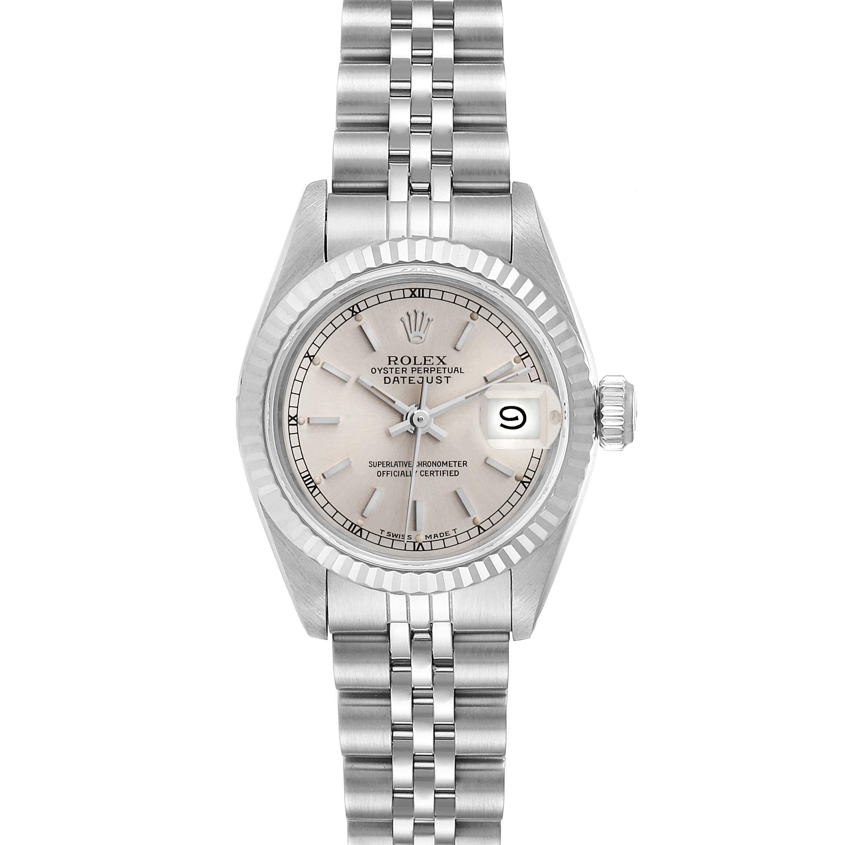 Rolex Datejust Steel White Gold Jubilee Bracelet Ladies Watch 69174
