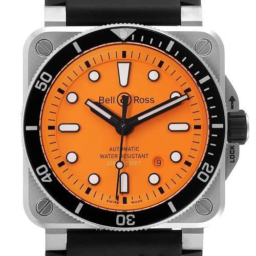 Photo of Bell & Ross Diver Orange Dial Automatic Steel Mens Watch BR0392 Unworn