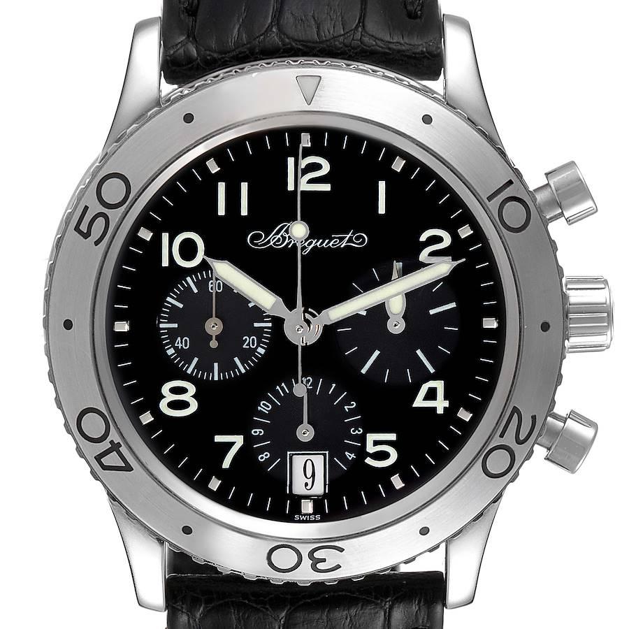Breguet Transatlantique Type XX Flyback Steel Mens Watch 3820ST Box Card SwissWatchExpo