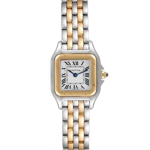 Photo of Cartier Panthere Ladies Steel Yellow Gold 2 Row Ladies Watch W2PN0006