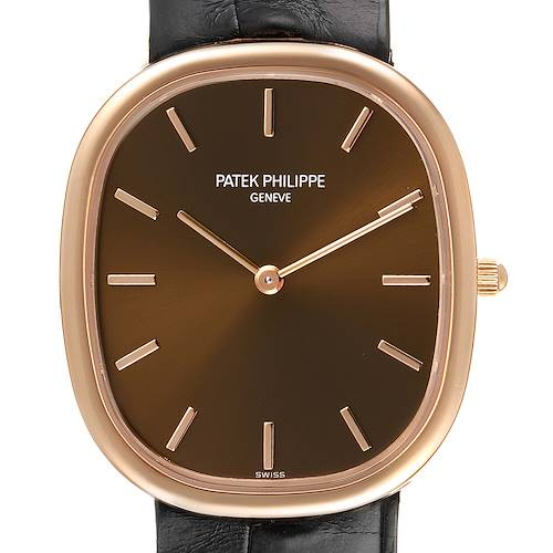 Photo of Patek Philippe Golden Ellipse Rose Gold Brown Dial Watch 3738