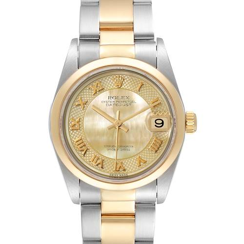 Photo of Rolex Datejust 31 Midsize Steel Yellow Gold MOP Dial Watch 78243 Box Papers