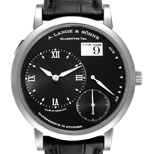 Photo of A. Lange Sohne Grand Lange 18k White Gold Mens Watch 117.028 Box Papers