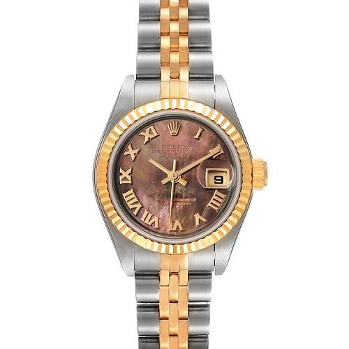 Photo of Rolex Datejust Steel Yellow Gold Black MOP Dial Ladies Watch 79173 Unworn