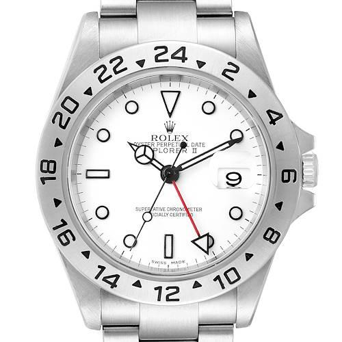 Photo of Rolex Explorer II 40mm White Dial Steel Mens Watch 16570