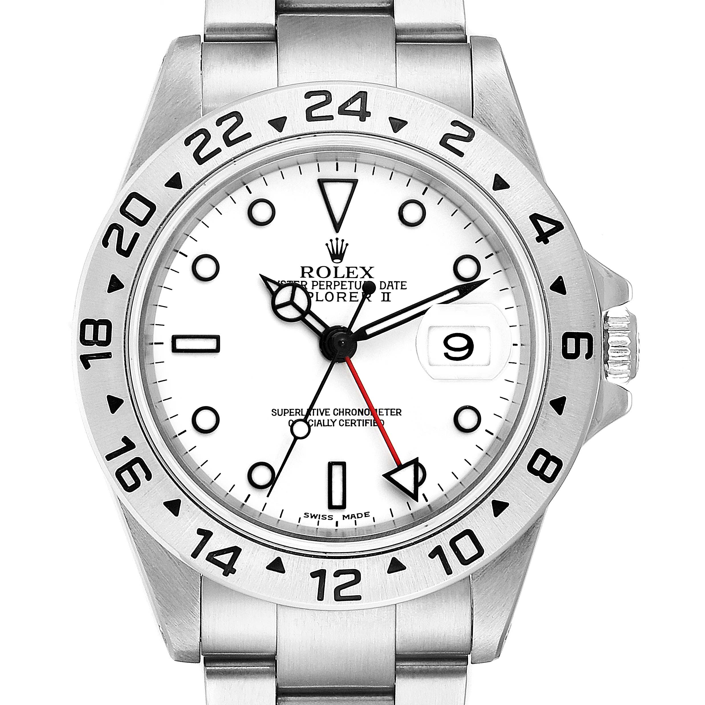 Rolex Explorer II White Dial Stainless Steel Mens Watch 16570