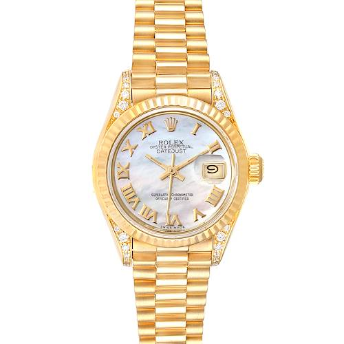 Photo of Rolex President Datejust 18K Yellow Gold Diamond Watch 69188