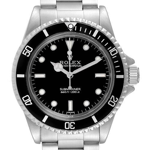 Photo of Rolex Submariner Vintage Stainless Steel Mens Watch 5513 Box Service Card