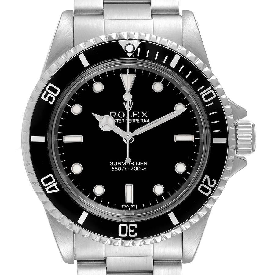 Rolex Submariner Vintage Stainless Steel Mens Watch 5513 Box Service Card SwissWatchExpo