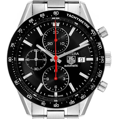 Photo of Tag Heuer Carrera Black Dial Chronograph Mens Watch CV2014