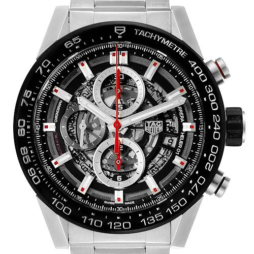 Photo of Tag Heuer Carrera Skeleton Dial Chronograph Mens Watch CAR2A1W Box Card