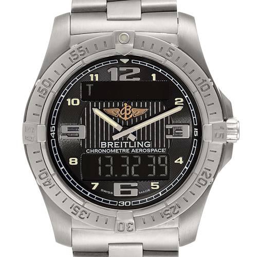 Photo of Breitling Aerospace Avantage Titanium Perpetual Alarm Watch E79362 Box Papers