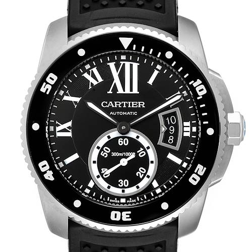 Photo of NOT FOR SALE Cartier Calibre Diver Black Rubber Strap Steel Mens Watch W7100056 Box Papers PARTIAL PAYMENT