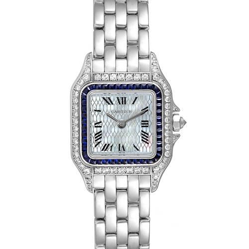 Photo of Cartier Panthere Ladies 18k White Gold Sapphire Diamond Ladies Watch 2362