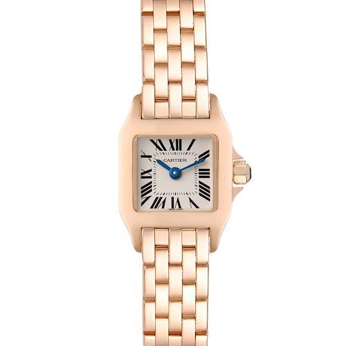 Photo of Cartier Santos Demoiselle 17mm Rose Gold Ladies Watch W25077X9