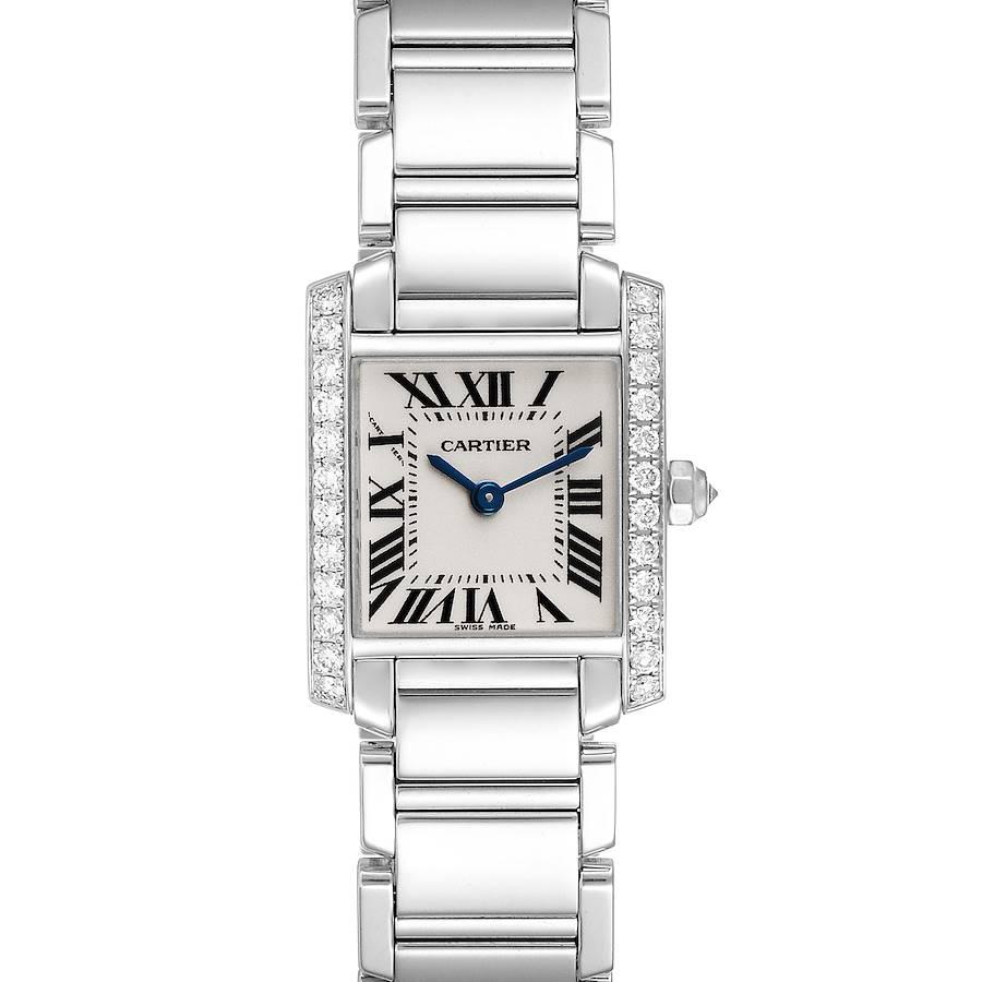 Cartier Tank Francaise 18K White Gold Diamond Ladies Watch WE1002S3 SwissWatchExpo
