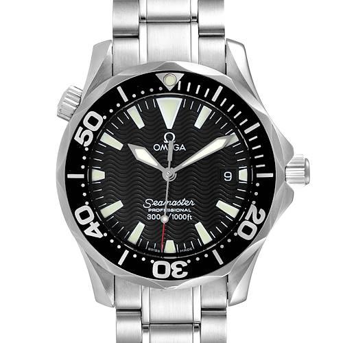Photo of Omega Seamaster James Bond 36 Midsize Black Wave Dial Watch 2262.50.00