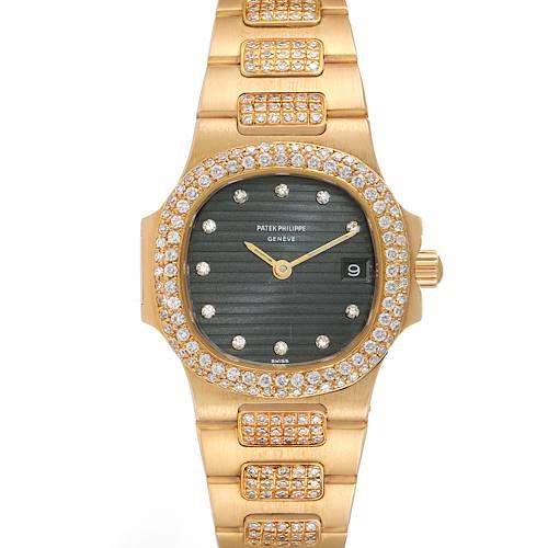 Photo of Patek Philippe Nautilus 18K Yellow Gold Diamond Ladies Watch 4700