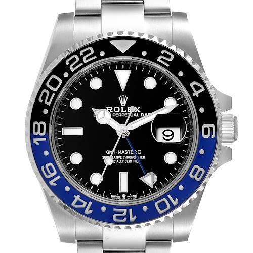 Photo of Rolex GMT Master II Black Blue Batman Steel Mens Watch 126710 Unworn