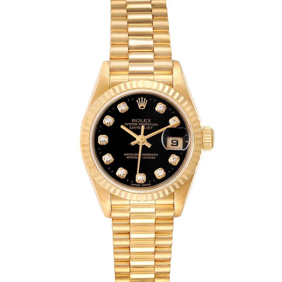 Rolex President Datejust Yellow Gold Diamond Ladies Watch 79178 Box Papers SwissWatchExpo