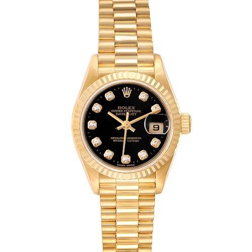 Photo of Rolex President Datejust Yellow Gold Diamond Ladies Watch 79178 Box Papers