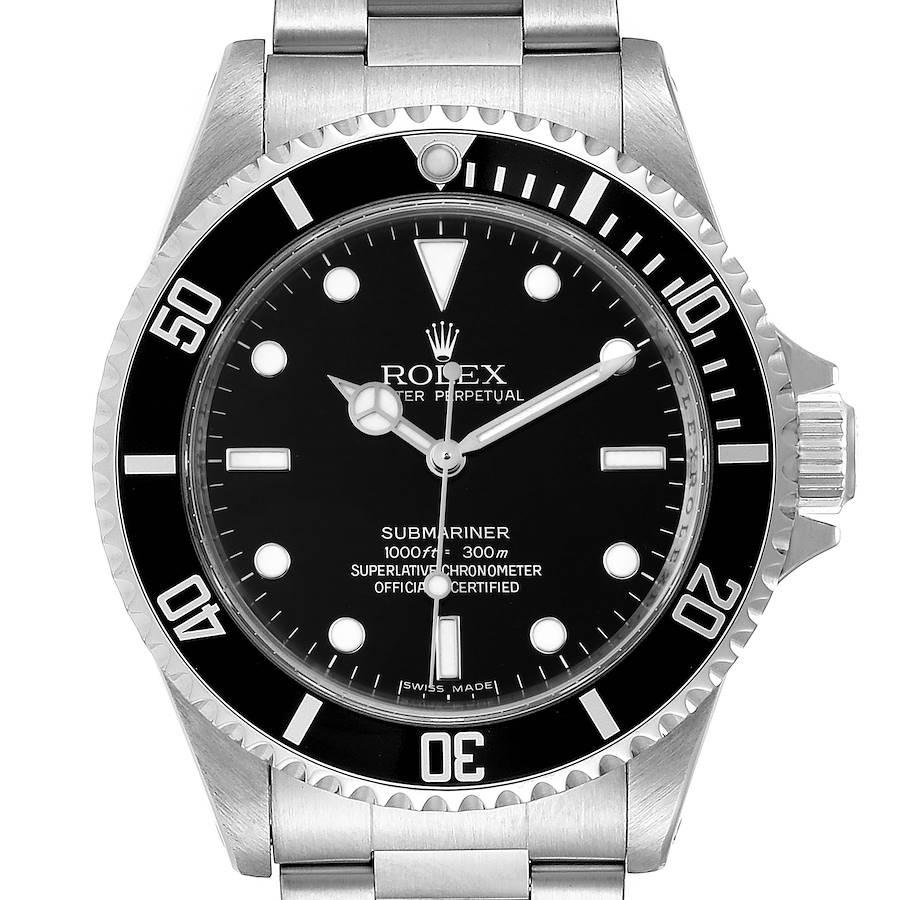 Rolex Submariner 40mm Non-Date 4 Liner Steel Mens Watch 14060 SwissWatchExpo