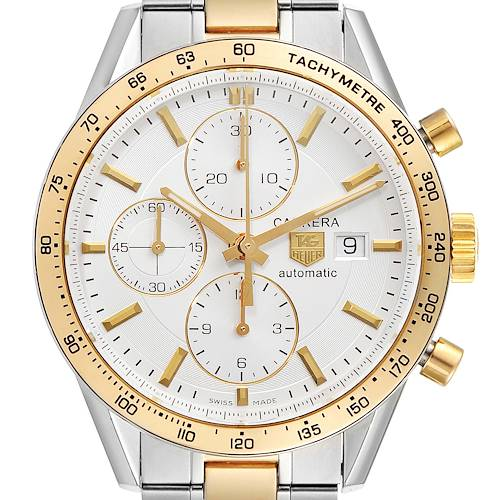Photo of Tag Heuer Carrera Steel Yellow Gold Chronograph Mens Watch CV2050 Card