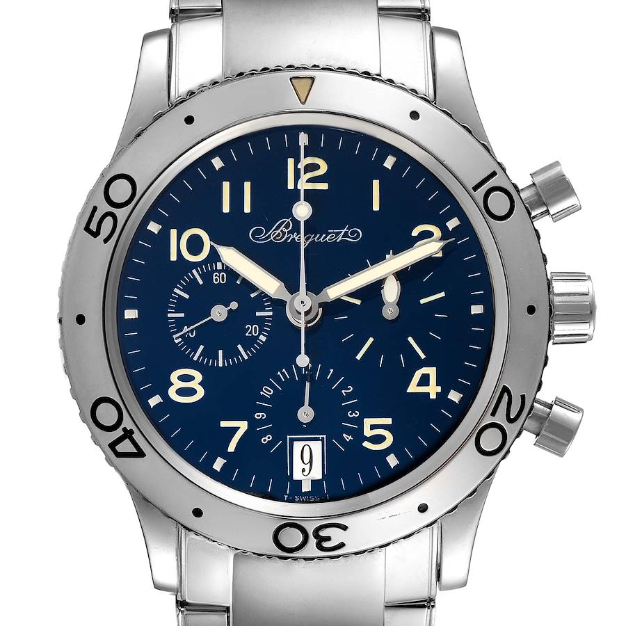 Breguet Transatlantique Type XX Flyback White Gold Mens Watch 3820BB SwissWatchExpo