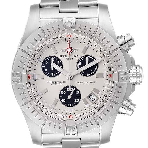 Photo of Breitling Avenger Seawolf Silver Dial Mens Watch A73390 Box Papers