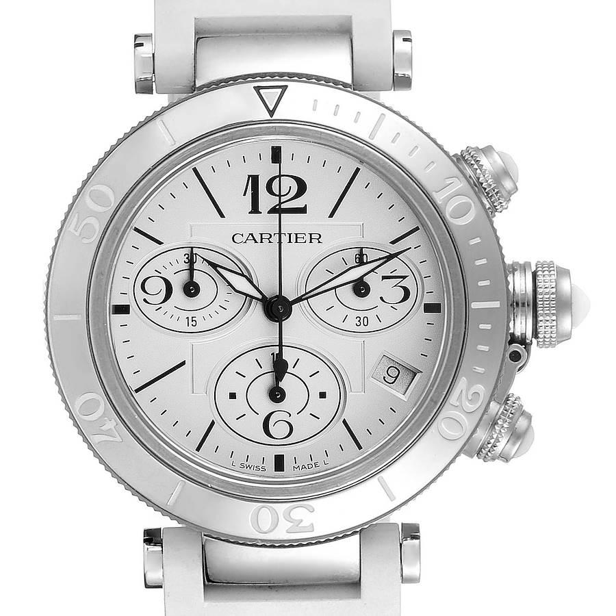 Cartier Pasha Seatimer Chronograph Steel Ladies Watch W3140005 SwissWatchExpo
