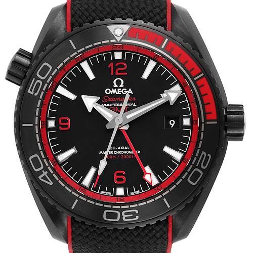 Photo of Omega Planet Ocean Deep Black Ceramic GMT Watch 215.92.46.22.01.003 Box Card
