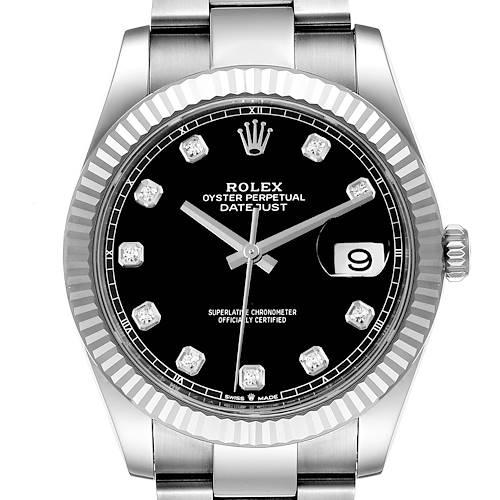 Photo of Rolex Datejust 41 Steel White Gold Diamond Mens Watch 126334 Unworn