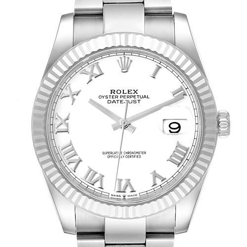 Photo of Rolex Datejust 41 Steel White Gold White Dial Mens Watch 126334 Unworn