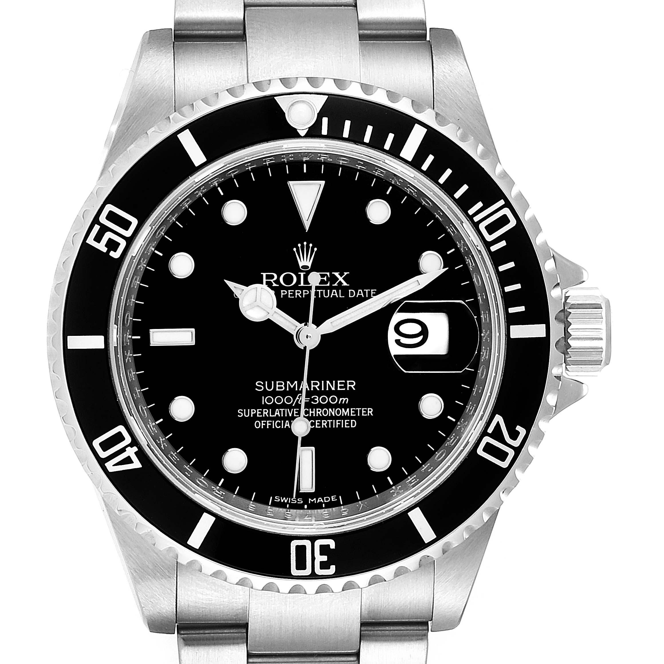 Rolex Submariner Date 40mm Stainless Steel Mens Watch 16610