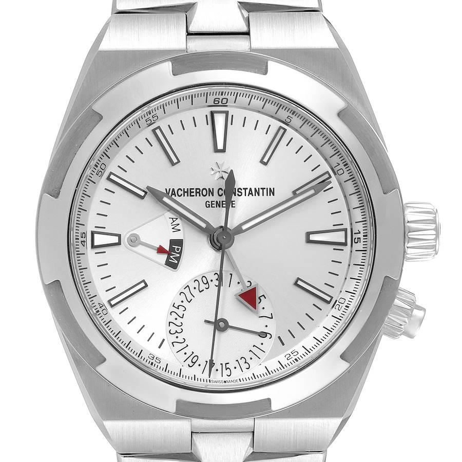 Vacheron Constantin Overseas Dual Time Steel Mens Watch 7900V Box Card SwissWatchExpo